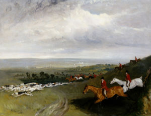 Full Cry, 1828 by Robert Barrett Davis