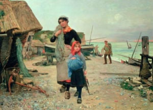 Fisherfolk Returning With Their Nets, 1882 by Henry Bacon