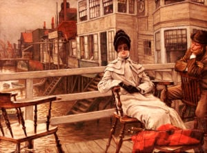 Waiting For The Boat At Greenwich by James Jacques Joseph Tissot