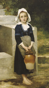 La Fille D'Eau by Adolphe William Bouguereau