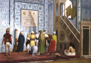 The Blue Mosque, 1878 by Jean-Leon Gerome