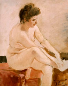 Seated Nude by Joaquin Sorolla y Bastida