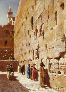 At The Wailing Wall, 1873 by Charles Robertson