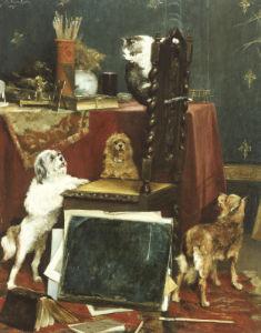 Chaos In The Studio, 1887 by Charles Van Den Eycken