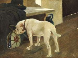 Study Of A Bulldog, 1914 by Arthur Heyer
