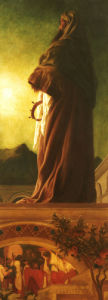The Star Of Bethlehem- 'One Of The Magi From The Terrace Of His House, Circa 1862 by Lord Frederic Leighton