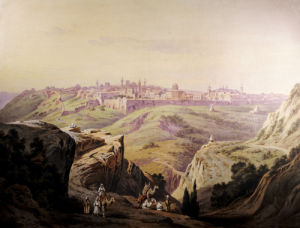 A View Of Jerusalem by Friedrich Perlberg