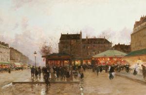 La Fete Forraine A Paris by Luigi Aloys-François-Joseph Loir