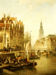 Amsterdam, 1896 by Cornelis Christiaan Dommershuizen