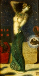 Dancing Salome by Franz Von Stuck