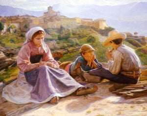 Pastorale, Civita D'Antino, 1902 by Gad Frederick Clement