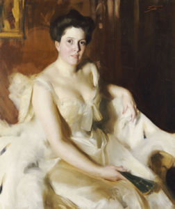 Portrait Of Mrs De Ver Warner by Anders Leonard Zorn