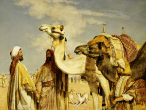 Greetings In The Desert, Egypt by John Frederick Lewis