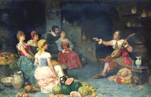 The Serenade by Francesco Bergamini