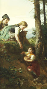 Children Picking Berries by Felix Schlesinger