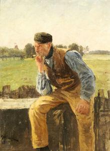 A Dutch Peasant, 1888 by Friedrich Kallmorgen