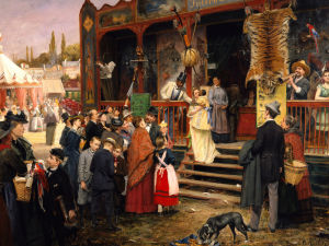 A Fair In Berlin by Carl Welz