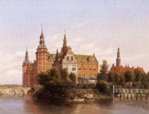 Frederiksborg Castle, Denmark, 1848 by Ferdinand Richardt