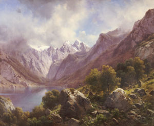 An Alpine Lake, 1867 by Karl Millner