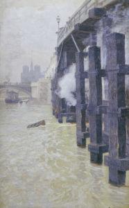 The Seine In December, Circa 1892 by Fritz Thaulow