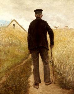 Old Man Walking In A Rye Field, 1905 by Laurits Andersen Ring