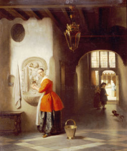 A Maid In A Hallway, 1849 by Hubertus Van Hove
