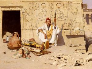Seller Of Artefacts, 1885 by Raphael Von Ambros