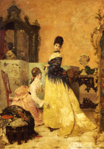 The New Dress by Alfred Sisley