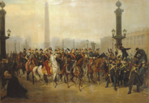 Napoleon With Staff In Place De La Concorde, Paris by Victor Philippe Auguste de Joncquieres