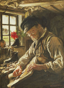 A Shoemaker In Arildsleje, 1872 by Peder Severin Kröyer