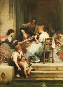 Venetian Life, 1884 by Sir Samuel Luke Fildes