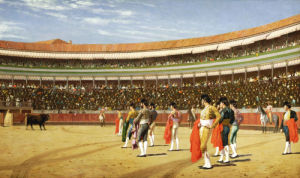 The Entry Of The Bull by Jean-Leon Gerome