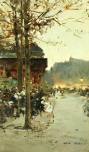 Crepuscule - Place De La Republique by Luigi Aloys-François-Joseph Loir