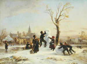 The Village Snowman by Wilhelm Alexander Meyerheim