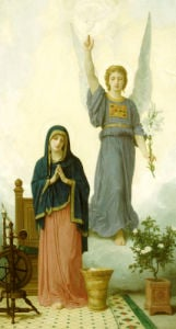 The Annunciation by Adolphe William Bouguereau