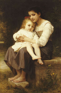 The Eldest Sister, 1886 by Adolphe William Bouguereau