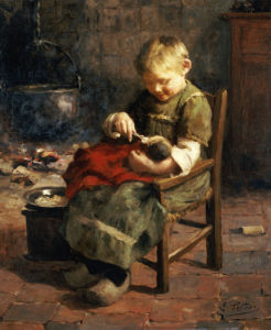 The Doll's Supper by Evert Pieters