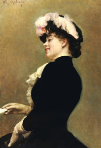 An Elegant Beauty by Raimundo De Madrazo Y Garreta