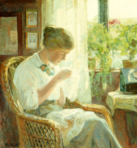 The Seamstress, 1914 by Knud Erik Larsen