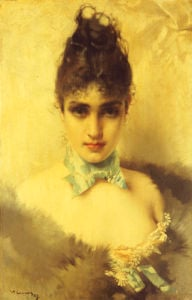 An Elegant Beauty, 1887 by Vittorio Matteo Corcos