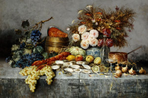A Bountiful Table by Modeste Carlier