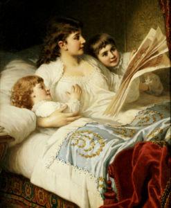 Bedtime Story, 1883 by Anton Ebert