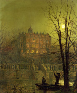 Under The Moonbeam, 1882 by John Atkinson Grimshaw