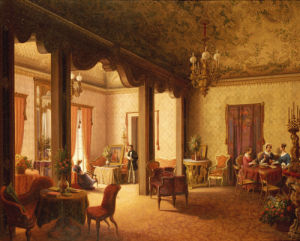 The Interior Of The Salon Of Tsarina Alexandra, 1856 by Carl Ludwig Rundt