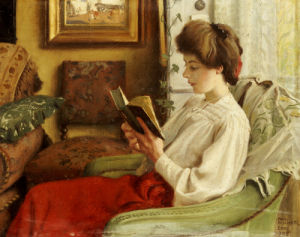 A Good Book, 1905 by Paul Gustav Fischer