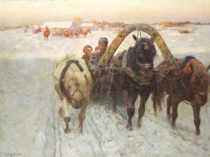 The Sleigh by Franz Alekseevitch Roubaud