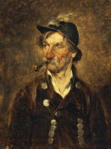 The Old Hunter, 1879 by Hugo Kauffmann