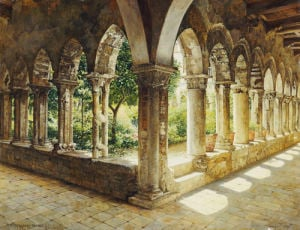 Cefalu Cloisters, Sicily, 1911 by Josef Theodor Hansen