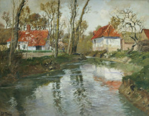 The Dairy At Quimperle by Fritz Thaulow