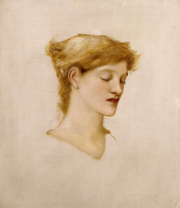 The Head Of A Woman by Sir Edward Burne-Jones